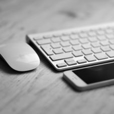 iphone, keyboard, mouse